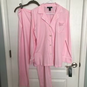 NWT Lauren Ralph Lauren Cotton Pajamas M / L